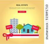 real estate vector web banner... | Shutterstock .eps vector #515891710