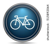 bicycle icon. internet button... | Shutterstock . vector #515892064