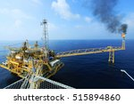 offshore construction platform... | Shutterstock . vector #515894860
