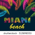 background with colorful palm... | Shutterstock .eps vector #515898553