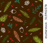 winter seamless pattern with... | Shutterstock .eps vector #515902378