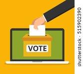 voting online concept. hand...   Shutterstock .eps vector #515902390