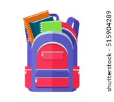 backpack schoolbag icon in flat ... | Shutterstock .eps vector #515904289