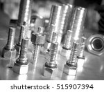 metal hydraulic fittings stands ... | Shutterstock . vector #515907394