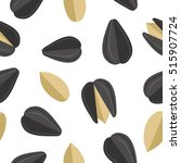 sunflower seeds seamless...   Shutterstock .eps vector #515907724