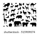 Animals Silhouettes Set. Deer ...