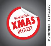 christmas delivery tag label | Shutterstock .eps vector #515911810