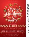poster for merry christmas...   Shutterstock .eps vector #515913889