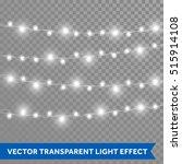 white garland  christmas lights.... | Shutterstock .eps vector #515914108