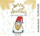 merry christmas   christmas... | Shutterstock .eps vector #515914183