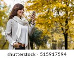 Beautiful Woman Checking Phone