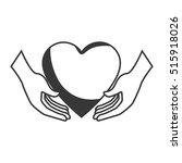 heart love silhouette icon