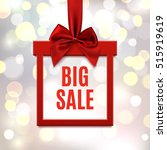 big sale  square banner in form ... | Shutterstock . vector #515919619