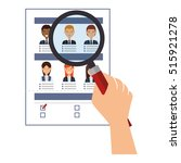 curriculum vitae paper isolated ... | Shutterstock .eps vector #515921278