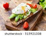 tasty sandwich with avocado ...   Shutterstock . vector #515921338