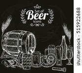 set of beer icons on black... | Shutterstock .eps vector #515922688