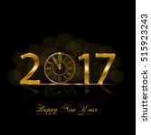 happy new year 2017. background ... | Shutterstock .eps vector #515923243
