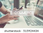 business hand typing on a... | Shutterstock . vector #515924434