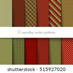 twelve seamless vector... | Shutterstock .eps vector #515927020