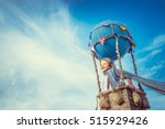 smiling boy in a balloon in the ... | Shutterstock . vector #515929426