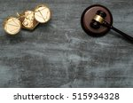 gavel and scale top view. law... | Shutterstock . vector #515934328