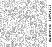 seamless pattern with sweets... | Shutterstock .eps vector #515936308