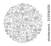 round design element with... | Shutterstock .eps vector #515936320