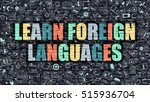 learn foreign languages  ... | Shutterstock . vector #515936704