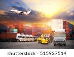 industrial container cargo... | Shutterstock . vector #515937514