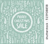 holidays promotion card. vector ... | Shutterstock .eps vector #515938858