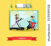 young girls are working out... | Shutterstock .eps vector #515939518
