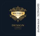 monogram design elements ... | Shutterstock .eps vector #515941450