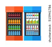 bluea and orange showcases... | Shutterstock .eps vector #515941786