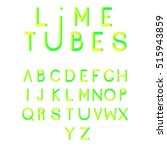 font.  vector stylized colorful ... | Shutterstock .eps vector #515943859