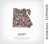 people map country egypt vector | Shutterstock .eps vector #515944630