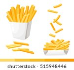french fries. vector... | Shutterstock .eps vector #515948446