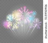 fireworks  salute on a... | Shutterstock .eps vector #515950906