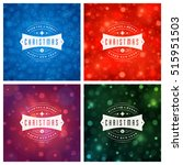 christmas greeting cards... | Shutterstock .eps vector #515951503