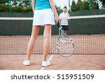 tennis players playing a match... | Shutterstock . vector #515951509