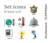 icon set on basic unit. vector... | Shutterstock .eps vector #515955664