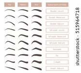 eyebrow shapes. various types... | Shutterstock .eps vector #515964718
