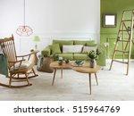 natural wood furniture green... | Shutterstock . vector #515964769