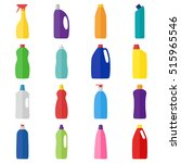 set of bottles of cleaning... | Shutterstock .eps vector #515965546