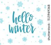 hello winter concept.... | Shutterstock . vector #515969368
