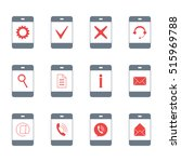 contacts different symbols on... | Shutterstock .eps vector #515969788