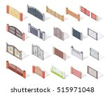 set of gates and fences s.... | Shutterstock . vector #515971048