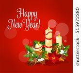 new year greeting card with...   Shutterstock .eps vector #515972380