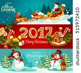 Christmas Holiday Banner Set...