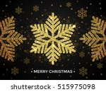 merry christmas gold greeting... | Shutterstock .eps vector #515975098