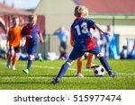 boys play football  children... | Shutterstock . vector #515977474